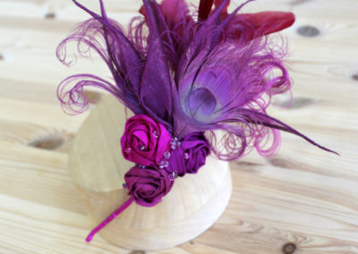 Pink Silk Lilly Fascinator