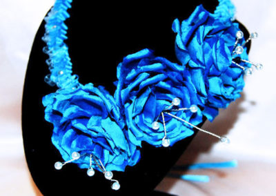 Ribbon Elizabethen Style Ruffle Necklace