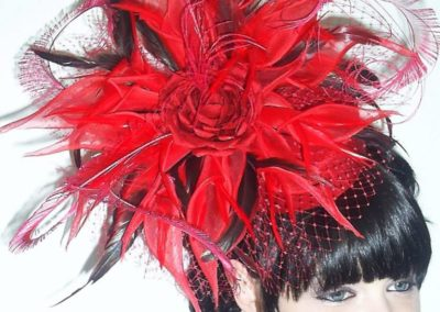 Poppy Red Silk Lily Hat