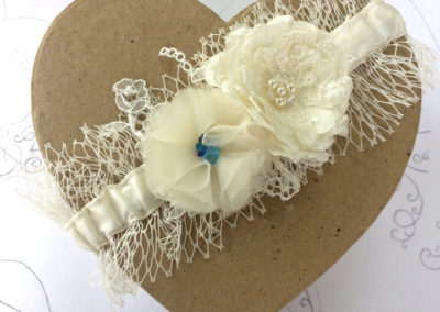 Something Blue Veil Garter
