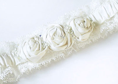 Silk Rosette Garter