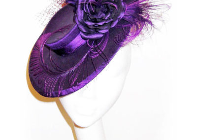 Midnight Purple Saucer Hat