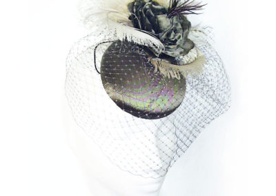 Taupe Pill Box Button Hat