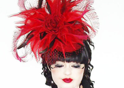 Scarlet Red Ascot Hat