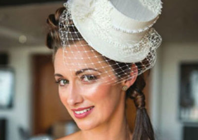 Lace Silk Bridal Top Hat