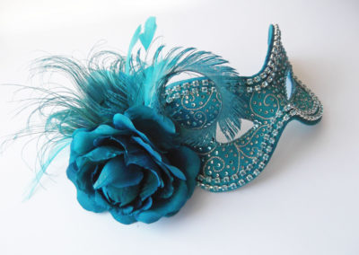 Turquoise masquerade ball mask