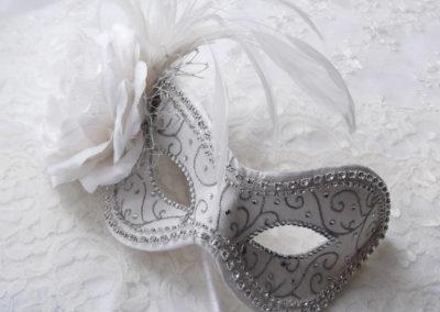 Ivory Bridal Mask