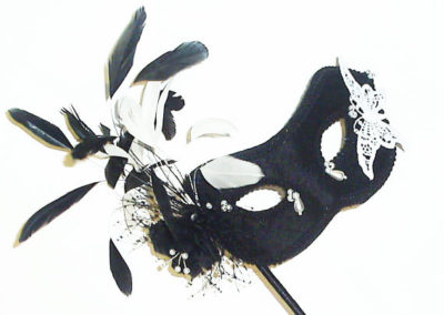 Black & White Butterfly Mask