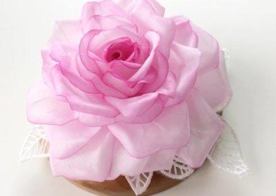 Hand Painted Silk Rose