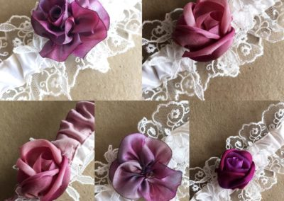 garter cluster silk ribbon work