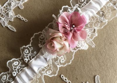 silk ribbon lace garter