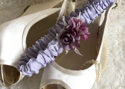 Lavender Rose Garter