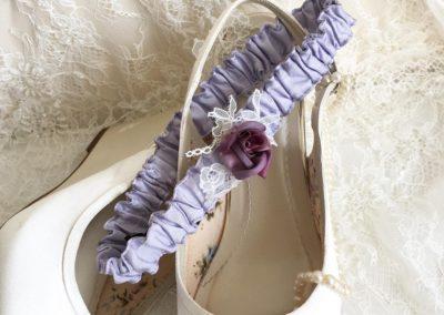 Lavender Rosette Garter