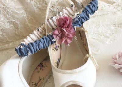 Slate Blue & Ivory Garter