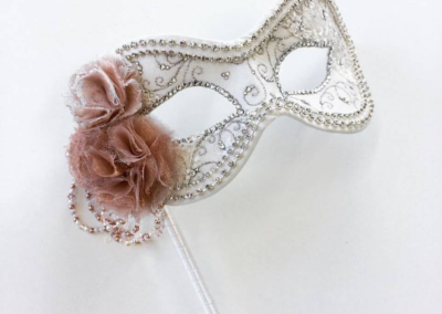 Blushing Bride Wedding Mask